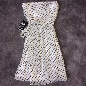 New H&M Chiffon Polka Dot Dress
